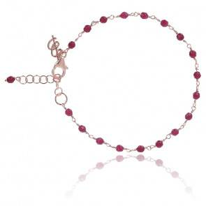 Bracelet amorette agate rouge