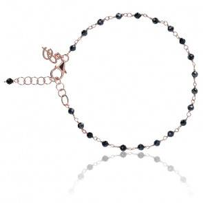 Bracelet amorette hématite