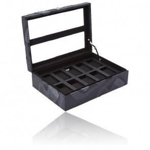 Boîte à montre Memento Mori Cuir noir 10 pièces 493502