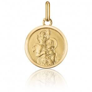 Médaille Saint Christophe Ø22 mm Or Jaune 18K