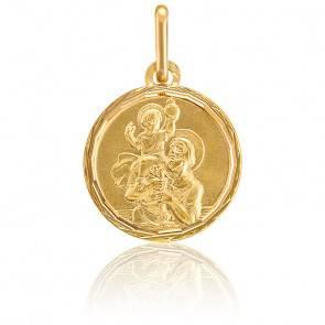 Médaille Saint-Christophe or jaune 9K ou 18K