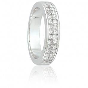 Alliance Abina Or Blanc 18K et Diamants