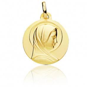 Médaille Sainte Vierge Auréolée Or Jaune 18K