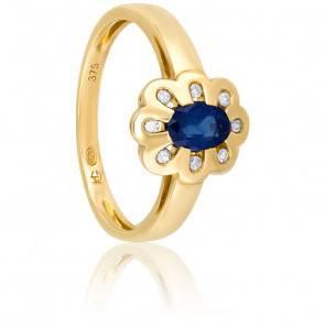 Bague Mélilot Saphir & Diamants