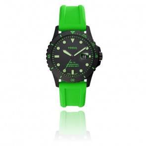 Montre FS5683 Silicone Vert Fossil