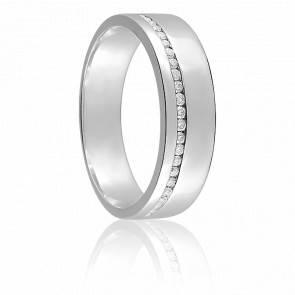 Alliance Yara Or Blanc 9K & Diamants