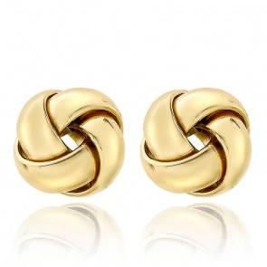 Boucles d'oreilles rondes croisées 10 mm Or jaune 18K