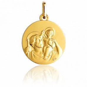 Médaille Saint Christophe Ø17 mm Or Jaune 9K