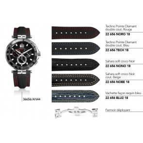 Bracelets cuir, nylon et acier pour montre série 36656/...