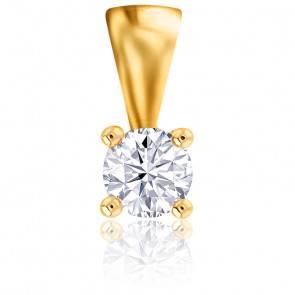 Pendentif  Or Jaune 18K & Diamant 0,04 ct