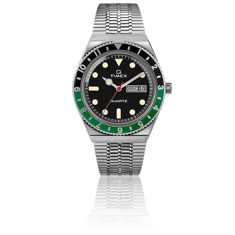 Montre Q Timex Reissue Noir/Vert TW2U60900