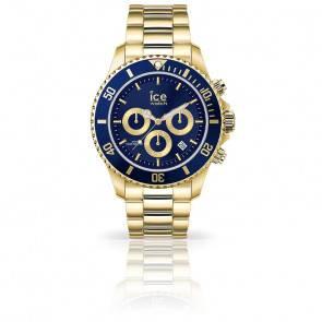 Montre ICE Steel Gold Blue Medium 017674