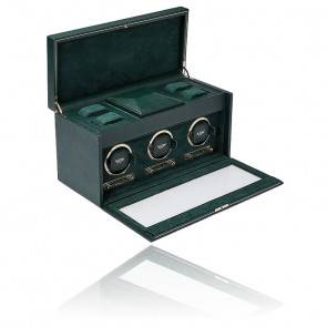 Remontoir British Racing Green Triple Watch Box 792341