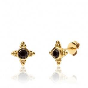Boucles d'oreilles Black Inky Gold