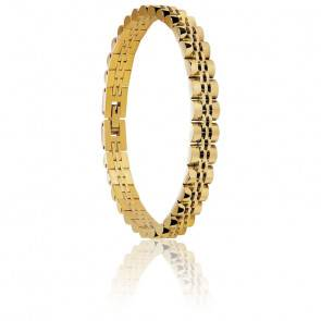 Bracelet Master en acier et pvd jaune HB6086