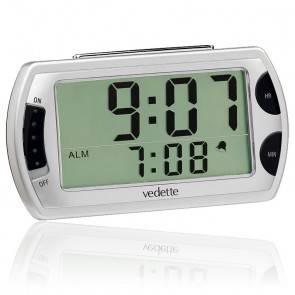 Réveil LCD Gris métallisé VR30004