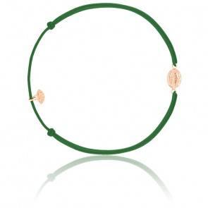 Bracelet cordon madone plaqué or rose