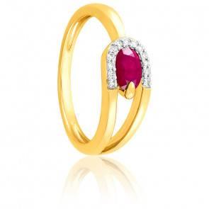 Bague Rubis & Diamants Or jaune 18K