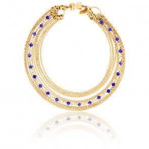 Bracelet chaines multiples plaqué or