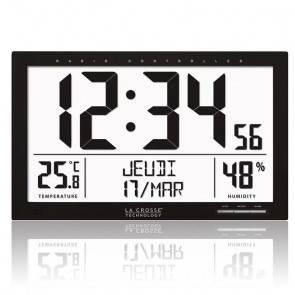 Réveil LCD noir VP30002