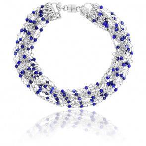 Bracelet chaines perlées multiples argent