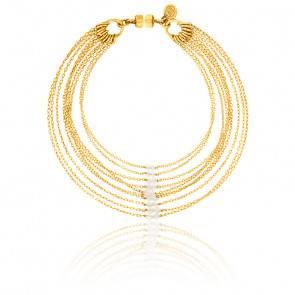 Bracelet chaines multiples sandra plaqué or