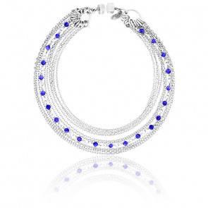 Bracelet chaines multiples argent