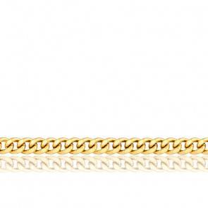 Chaîne Gourmette, Or Jaune 9K, longueur 60 cm