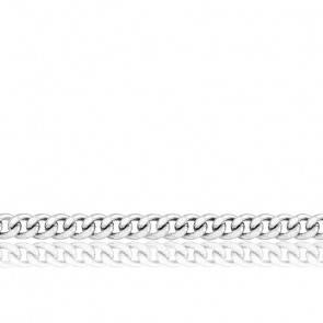 Chaîne Gourmette, Or Blanc 18K, longueur 50 cm