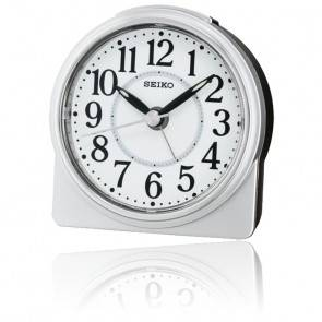 Réveil Seiko Clocks blanc et argenté QHE137SN