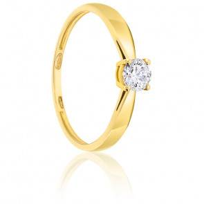 Bague Solitaire Diamant 0.30 ct & Or 18K