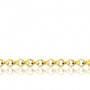 Chaîne Jaseron, Or Jaune 18K, longueur 65 cm