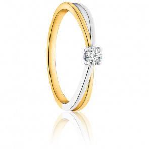 Bague Evia 2 Ors 9K & Diamant