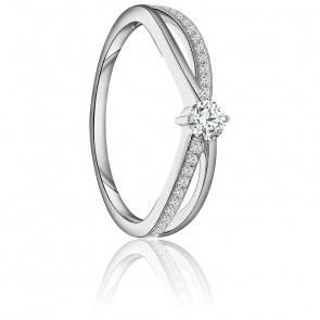 Bague Ilia Or Blanc 9K & Diamants