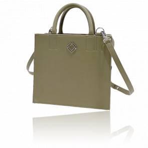 Sac à main cuir vegan - Boxbag Apple Leather Olive