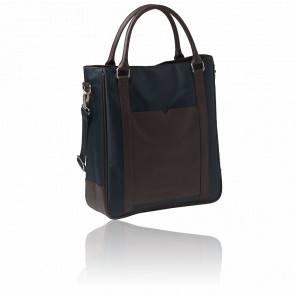 Sac cabas bleu / marron - shopping bag Parcours RTS504