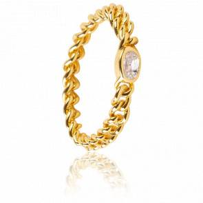 Bague white Marilyn Gold