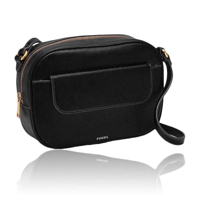 Sac bandoulière cuir noir Avery SHB2463001