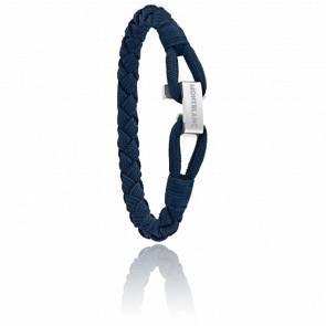 Bracelet Wrap Me Nylon Bleu & Acier