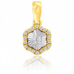 Pendentif or jaune 9K & diamants