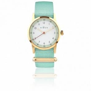 Montre Opale Bracelet Vert d'Eau MIL465