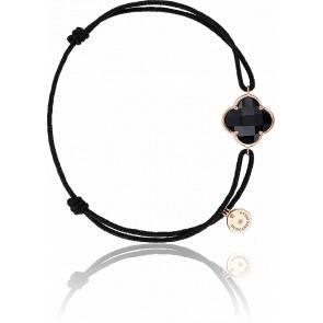Bracelet Victoria Cordon Noir Onyx Or Rose