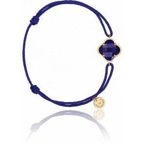 Bracelet Bleu Lapis Lazuli, Or Jaune
