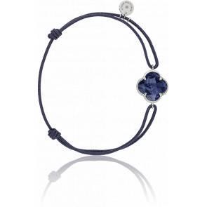 Bracelet Victoria Cordon Bleu Jean, Pietersite Bleue, Or Blanc
