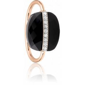 Bague Aurore Onyx et Diamants, Or Rose