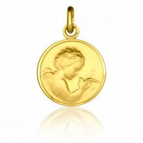 Médaille Ange à la Colombe Or Jaune 9K