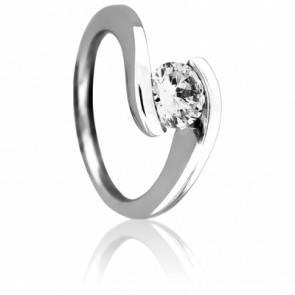 Bague Solitaire Or blanc 18K & Diamant 1 ct DVVS1